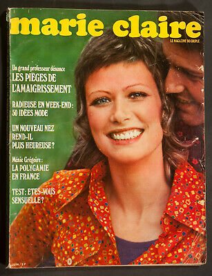 'marie-Claire' French Vintage Magazine Summer Issue June 1971