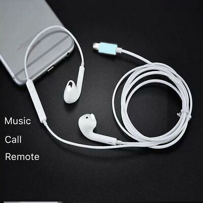 Wired Bluetooth Earphones Headphones For iPhone 8 7 6 Plus 5 X XR XS Max w/o box