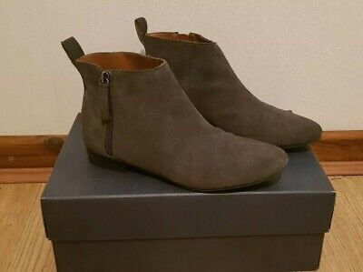 GAP gray suede chelsea ankle boots