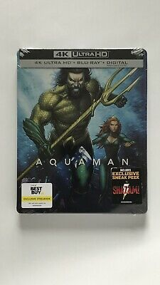 🔥Aquaman 4K Blu-Ray Digital Steelbook Sold Out Best Buy Only Exclusive! Sealed
