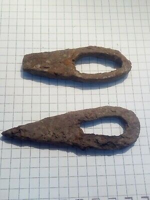 Ancient Roman iron firesteel, metal detector find, 100 % authentic, 2 pieces