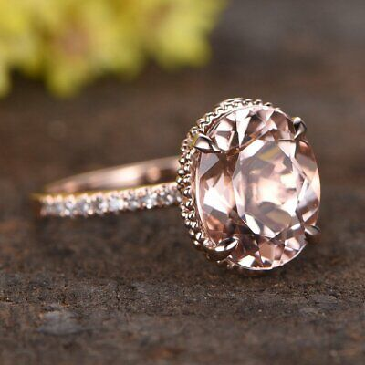 cb07b4da4314d 2.0 CARAT PORTUGUESE Cut Cushion Morganite Solitaire Ring in 14k ...