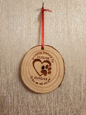 Tree Slice Hanging Keepsake - Pet Memorial- In Loving Memory