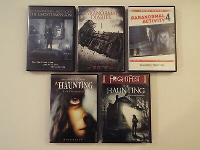 5 DVD-lot-Horror-Paranormal Activity-Ghost Dimension-4-Diaries-Haunting-Possesse