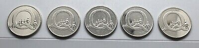 2019 5 x letter Q for Queue 10p coins alphabet pence from sealed bank bagi