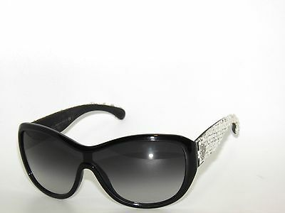 680ac39235c CHANEL BLACK WHITE Sunglasses Quilted Leather 5129-Q c.1029 11 54MM ...