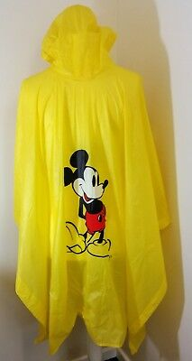 Vintage Disney bright yellow Mickey Mouse poncho 100% waterproof vinyl festivals