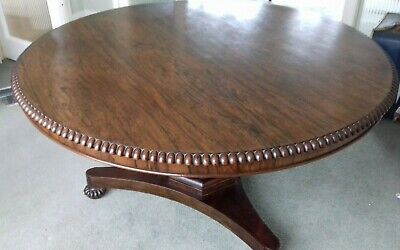 William IV Rosewood Breakfast Dining Table. Superb quality and condition.