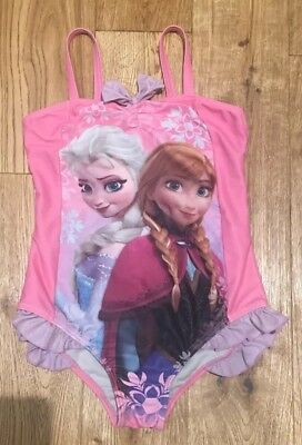 Disney, Frozen!! Girls Swimming Costume Suit Size 8-9 Years