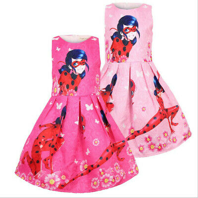 Miraculous Ladybug Princess Dress Girls Party Pageant Birthday Dress Costume
