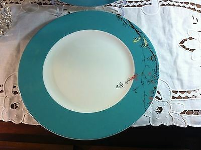 "Auction (1) Lenox Fine Bone China Chirp White Floral 11"" Dinner Plate New USA"
