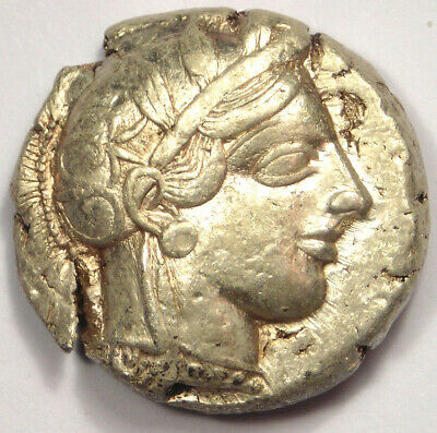 Ancient Athens Greece Athena Owl Tetradrachm Coin (454-404 BC) - Extremely Fine