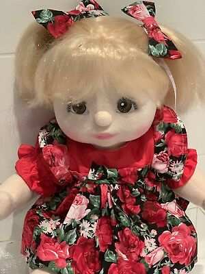 My Child Doll, Blonde Pigtails, Brown Eyes Dressed, Excellent Condition