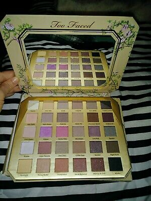 Too Faced Natural Love eye shadow palette 30 shades, 3 colors were swatched. New