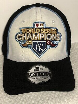 ccb412d0513 New York Yankees 2009 World Series Champions Baseball Hat Cap 39Thirty New  NYY
