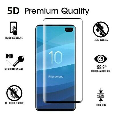 5D Galaxy S10 S9 S8 Plus Note 9 8 NUGLAS Tempered Glass Screen Protector Samsung