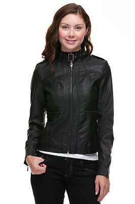 630bf5f3f127a NEW YORK & Company Dark Red zip front cropped faux leather jacket ...