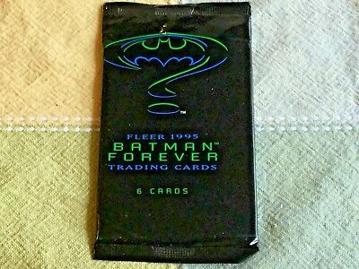 Fleer 1995 Batman Forever Trading Cards 6 Cards In Sealed Pack Cool Graphics