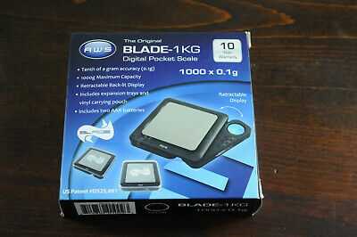 American Weigh Scales Black Blade Digital Pocket Scale