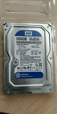 "WD DESKTOP BLUE 500GB 3.5"" SATA 7200 RPM Internal Hard Disk Drive HDD"