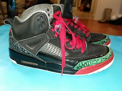 72685b2dfad047 NIKE AIR JORDAN SPIZIKE OG Black Varsity Red Green 315371-026 SIZE ...
