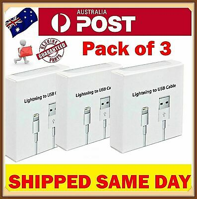 3X Lightning Data Charger Cable Cord Compatible Genuine Apple iPhone 5 6 S 7 8 X
