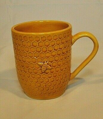 Williams-Sonoma  ~ Honey Bee Honey Comb ~Coffee Mug /Cup ~ Retired ~ Mint~ Italy