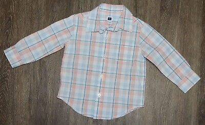 Janie and Jack Baby Boy Button front Plaid Shirt Size 12-18 Months