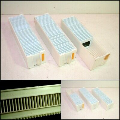 3 x GNOME LITEMASTER 35mm 36 SLIDES MAGAZINE with 95 slides