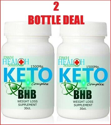 Keto Diet Pills With Bhb Weight Loss Carb Blocker Fat Burner Lose Fat **2 Pack**