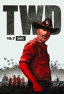 H314 The Walking Dead Season 9 Finale Silk Poster 12x18 24x36 Zombie TV Series