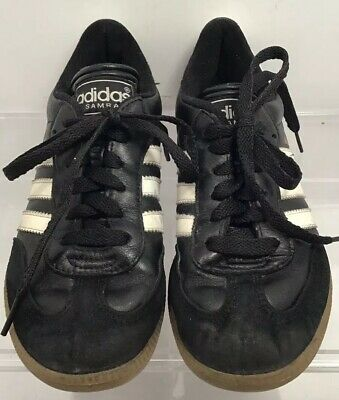 d5b721427 Adidas Samba Youth Kids Athletic Indoor Soccer Shoes Size 2.5 Black Suede