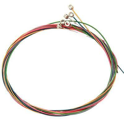 6pcs Guitar String Set of Rainbow Color Strings Acoustic Electric Player Gift WO