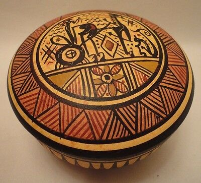 Ancient Greek Pottery Art Rare 900 BC Geometric Painted Jewelry Case Box