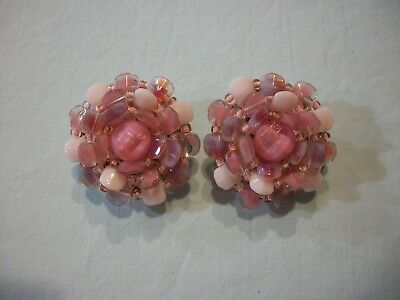 ViNTaGE~SiGNeD~WESTERN GERMANY~LuCiTE CLUSTeR FLoWeR (LARGe) ERs~(PReTTy PiNKs!)