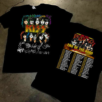 KISS Band T-Shirt End Of The Road Farewell Tour 2019 Concert Music Fan S-3XL