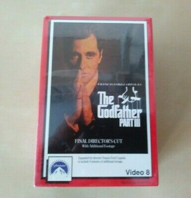 The Godfather Part III Video 8 Movie 8mm 2-Tapes 1991 Paramount SEALED