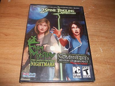 Farm Mystery Nightmare & Committed Mystery PC CD ROM Games WIN XP/Vista/7 NEW