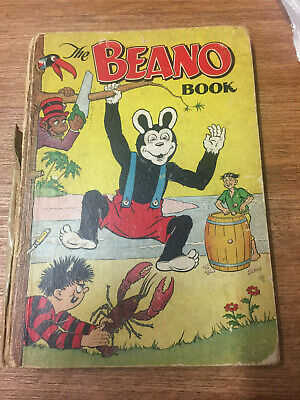 The Beano Book Annual 1954 Fair/Worn condition, FREE UK POSTAGE
