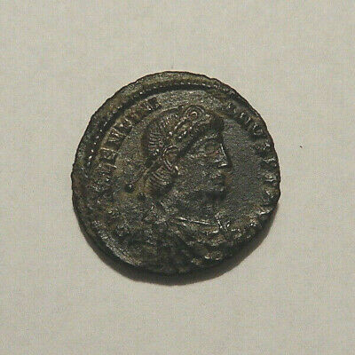 Authentic Roman Imperial Ancient Bronze Coin, nice details, 18mm diameter