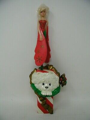Vintage 1994 Flying Fairy  Christmas Stocking/Package With Dog