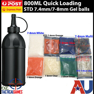 7.4mm 7mm-8mm Hardened Ammo Water Bullet Loading Bottle Jinming Gel Ball Blaster