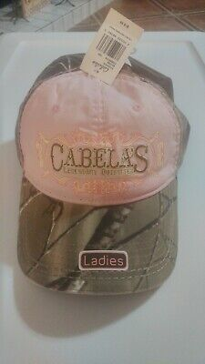 b26d51f3ba39b NEW LADIES CABELA S Pink Camo Two Button Cap Women s Hat One Size ...