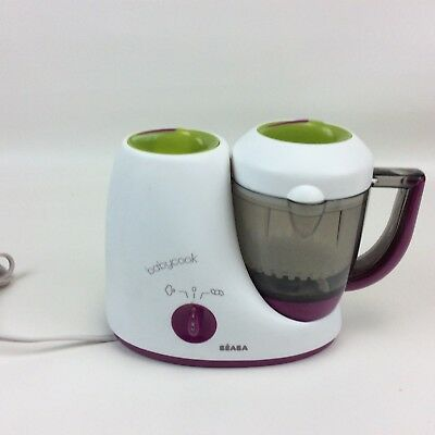Beaba Babycook Steamer Blender Classic Baby Food Maker White Purple