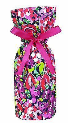 *LILLY PULITZER Wine Tote Gold Logo Hostess Party Gift~Featured in Wild Confetti