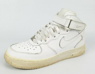 NIKE AIR FORCE 1 MID GS 314195-038 BLACK//WHITE GREDE SCHOOL SIZE 6