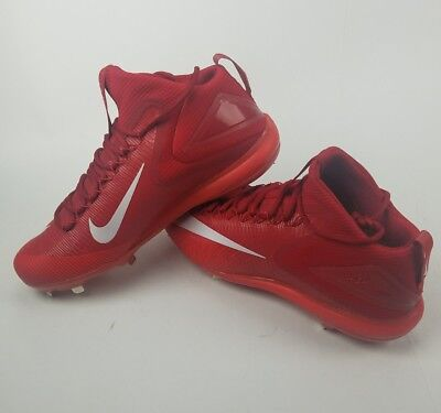 71bd5db4bba Nike Force Zoom Trout 3 sz 13 Metal Baseball Cleat 856503 667 Red White Mid  Top