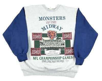 check out 20902 3efa0 VTG 1994 MENS Chicago Bears Monsters of The Midway Crewneck ...