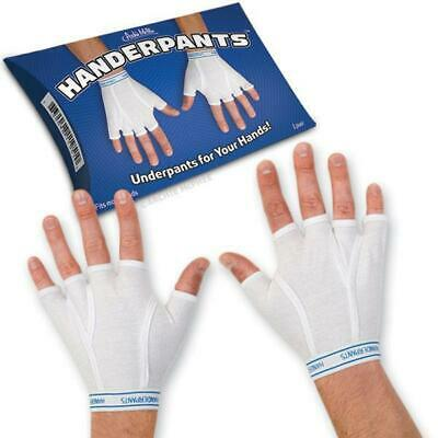 Archie McPhee- Handerpants 95% Cotton 5% Spandex Fingerless All Sizes Fit Gloves