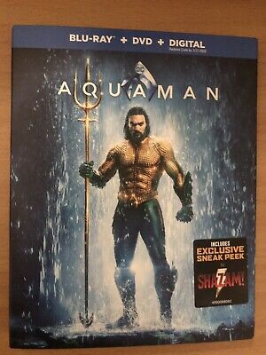 Aquaman(Blu-Ray+Dvd+Digital)W/Slipcover New Factory Sealed Will Ship Out Sameday